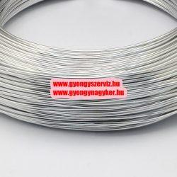 Alumínium ékszerdrót. 0.5-0.6mm. Világosszürke. 10m.
