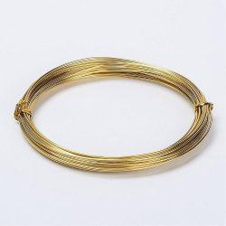 Alumínium ékszerdrót. 1mm. Antik arany. 5m.