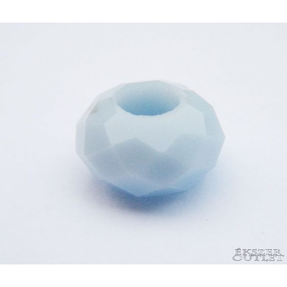 Pandora üveg gyöngy. 14x8mm. Égkék. Leárazva!