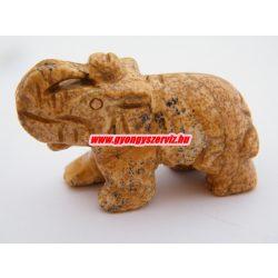 Képjáspis ásvány elefánt.