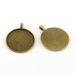 Kaboson medál alap. 35mm lencséhez. Antik bronz szín.