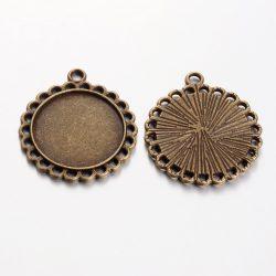 Kaboson alap, összekötő elem,  20mm lencséhez. Antik bronz szín.
