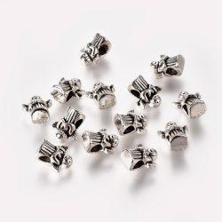 Pandora stílusú fémgyöngy. Angyal. Antik ezüst szín.