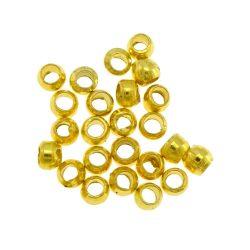 Stopper. Összenyomható rögzítő elem, fémgyöngy. 1g. Arany szín.
