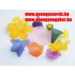 Akril virág mix. 10db/csomag.