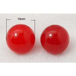 Piros jade marokkő, harmónia gömb. 16mm.
