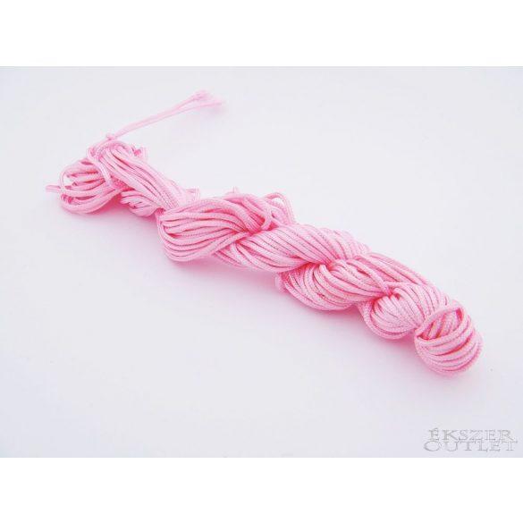 Shamballa fonal. Nylon fonal. 1.5mm. 12.5m. Rózsaszín.   Legjobb ár!