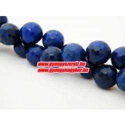 Csiszolt lapis lazuli ásványgyöngy. 8mm.