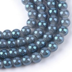 Aura üveggyöngy. 10mm. Kék, Ab. Mindig akcióban!
