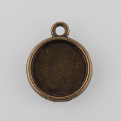Kaboson alap. 12mm lencséhez. Antik bronz szín.