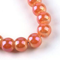 Aura üveggyöngy. 10mm. Narancs, Ab.