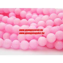 Jade ásványgyöngy. 6mm. Pink.