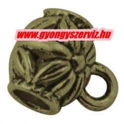 Charm tartó, medál tartó. 9x7.5mm. Antik bronz szín.