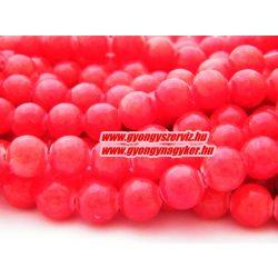 Jade ásványgyöngy. 6mm. Piros.