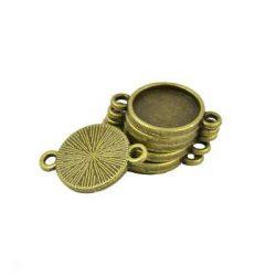 Kaboson alap, összekötő elem,  14mm lencséhez. Antik bronz szín.