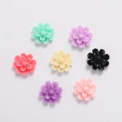 Akril műanyag kaboson virág. Mix.