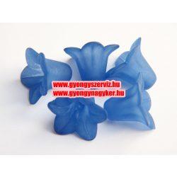 Akril, matt kék virág gyöngy.