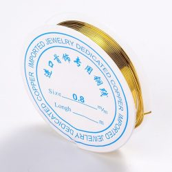 Réz ékszer drót. 0.8mm. Arany szín.