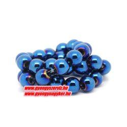 Hematit ásványgyöngy. 8mm. Kék.