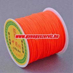 Shamballa fonal, poliészter fonal. 0.8mm. Neon narancs..