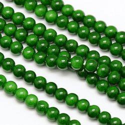 Üveggyöngy. 6mm. Smaragd.