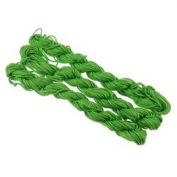 Shamballa fonal. Poliészter fonal. 1.5mm. Zöld.
