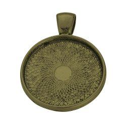 Kaboson medál alap. Antik bronz szín. 25mm lencséhez.