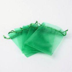Organza tasak 9x12cm. Zöld.