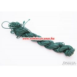 Shamballa fonal. Nylon fonal. 1.5mm. 12.5m. Smaragdzöld.   Legjobb ár!