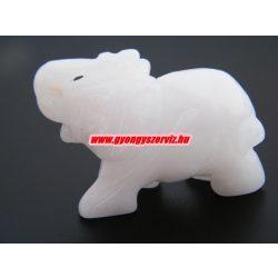 Tejkvarc ásvány elefánt.