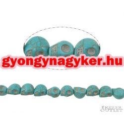 Koponya gyöngy szintetikus türkiz.  kék. 13x10x12mm.  Leárazva!