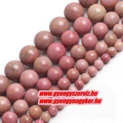 Pink rodonit ásványgyöngy. 4mm.