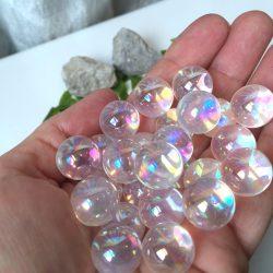 Aura kvarc, aura kristály. 8mm. Rózsaszín.
