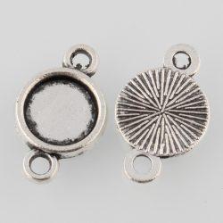 Kaboson alap, összekötő elem,  22mm lencséhez. Antik ezüst szín.