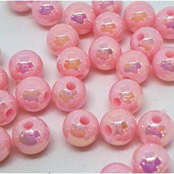 Aura tekla gyöngy. 8mm.  Rózsaszín.