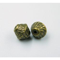 Bicone. Fém köztes gyöngy. 7x7mm. Antik bronz szín.