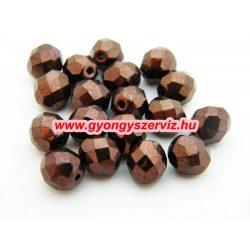 Cseh csiszolt gyöngy. 8mm. Csokoládé. 1db, vagy 20db/csomag. Mindig akcióban!