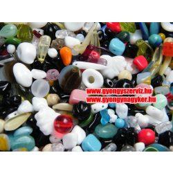 Cseh üveggyöngy színes mix. 20g, vagy 50g.  Mindig akcióban!