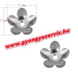 Acél gyöngykupak. 7.50x7.50x2mm
