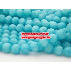 Jade ásványgyöngy.  10mm. Kék.