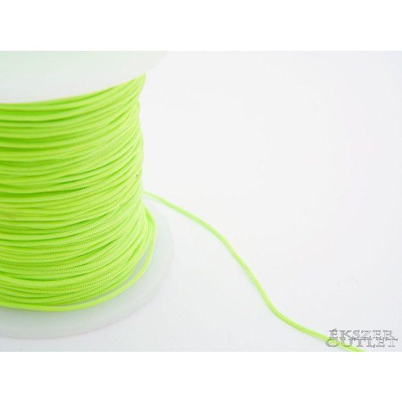 Shamballa fonal. Nylon fonal. 1mm. Uv zöld.   Legjobb ár!