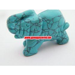 Türkenit ásvány, faragott elefánt.