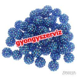 Műanyag shamballa gyöngy. 16mm. Kék. Mindig akcióban!