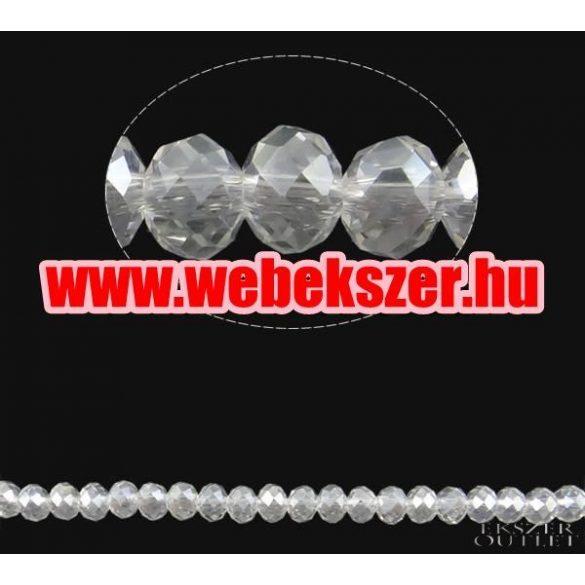 Üveggyöngy. Csiszolt kristály gyöngy. 8x10mm. Csillogó kristály. Leárazva !