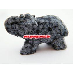 Hópehely obszidián ásvány elefánt.