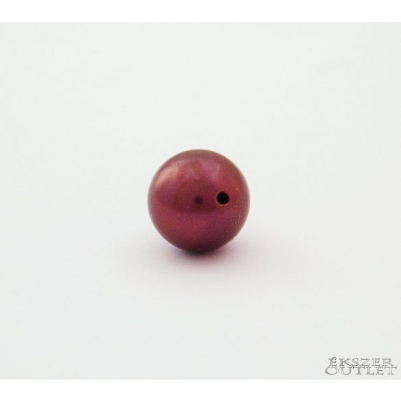 Shell pearl gyöngy. 10mm. Light padlizsán. Leárazva!