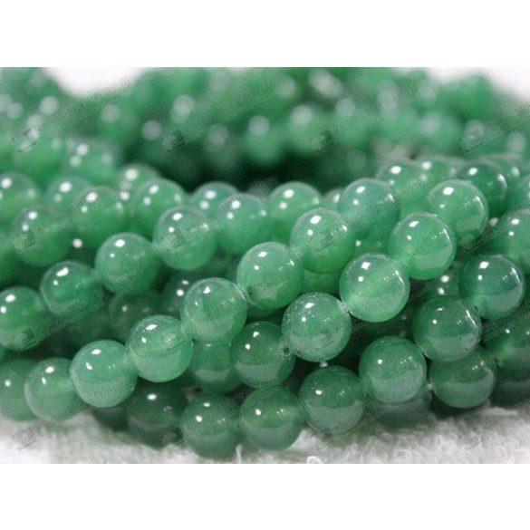 Ásványgyöngy, féldrágakő gyöngy. 8mm. Zöld aventurin. Leáraz