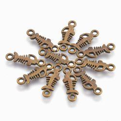 Halacska, összekötő elem. Antik bronz szín.