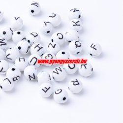 Műanyag betű gyöngy. 7-8 mm. Mindig akcióban!