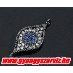 Cirkon kristályos összekötő gyöngy.  10x23mm.
